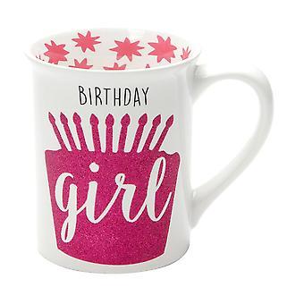 Our Name Is Mud Birthday Girl Glitter Mug