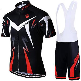 X-tiger Pro Ciclismo Jersey Set, Summer Wear Mountain Bike Ropa / Traje de ciclismo