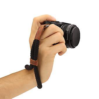 Megagear slr, dslr kamera bavlnený remienok na zápästie čierna