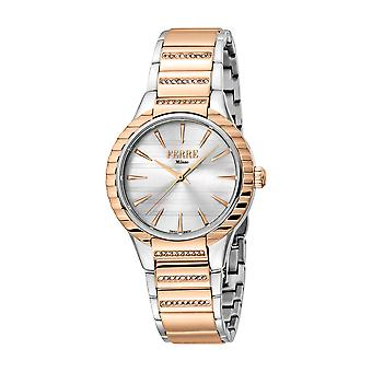 Ferre Milano Ladies Silver Dial  MB.middle links in RG. Watch