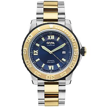 Gevril Men's Seacloud Blue Dial Steel-Yellow Gold PVD