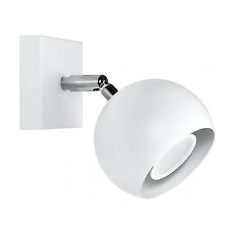 Okulare hvid stål væg lys 1 pære