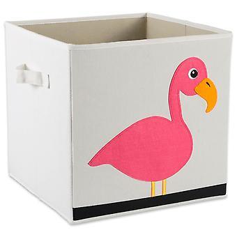 Cubo de almacenamiento Dii Flamingo