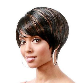 Women's Wig Women's Fashion Realistic Natural Side Bangs Short Hair Head Cover