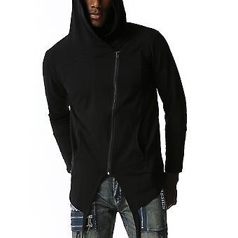 يانغفان الرجال & apos;ق هودي سترة غير منتظمة اللون الصلب pullover