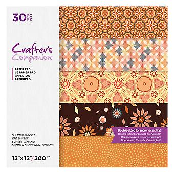 Crafter's Companion Summer Sunset 12x12 Inch Paper Pad