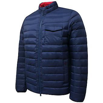 Hackett Mens Lightweight Down Jacket Zip Up Coat Navy HM402380 595