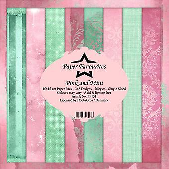 Paper Favourites Pink and Mint 6x6 Inch Paper Pack