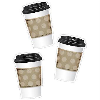 Industrial Cafe To-Go Cup Cut-Outs, 36 Per Pack, 3 Packs