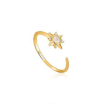 טבעת מתכווננת כוכב חצות Ania Haie זהב מבריק R026-03G