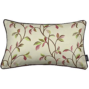 Annabel floral cherry red pillow