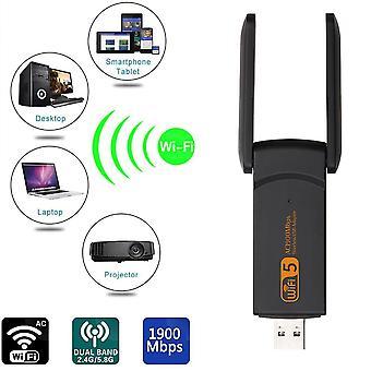 Yeni Wifi Adaptörü Çift Bant Wifi Ücret Sürücüsü Lan Ethernet Ağ Kartı Kablosuz