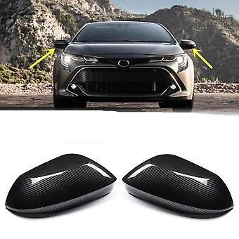 Cover Side Wing Cap Carbon Fiber For Toyota Corolla Hatchback