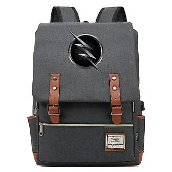 Superhero Flash Junior Student Schoolbag Sac à dos USB