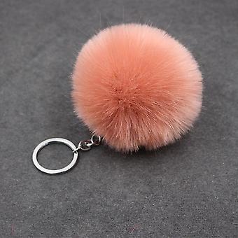 ball plysj enkel ball pompon anheng kunstig dyr nøkkelring