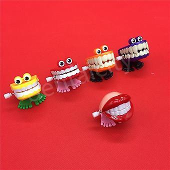 Jucării Creative, Dentare, plastic de primăvară, Salt Dinti Lanț