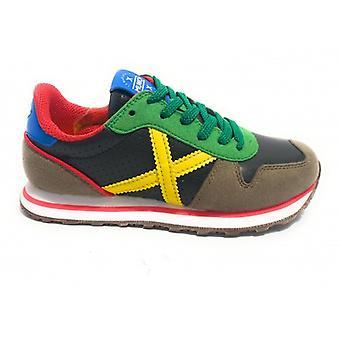 Shoes Baby Munich Sneaker With Laces Mini Massana Suede/ Grey Leather/ Black/ Multi Z21mu04