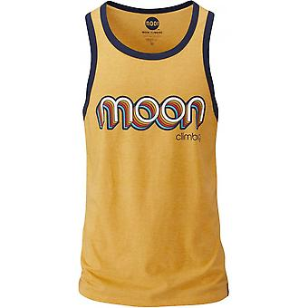Moon Climbing Retro Ringer Vest - Gold/Indigo