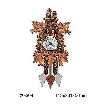 Vintage Style Wooden Wall Clock Sheep Bird Tree House Swing Retro Wall Hanging Clock Alarm Art Home Decorations