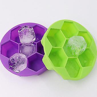 Ice Cube Maker hunajakenno tarjotin ruokalaatu joustava silikoni jääkuutio muotti