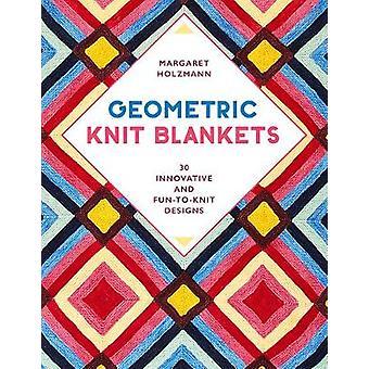 Coperte geometriche in maglia