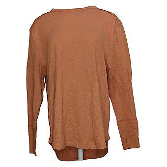 All Worthy Hunter McGrady Women's Top Long-Sleeve Tee Shirt Orange A384588