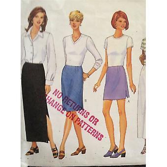 نمط الخياطة 5390 Butterick السيدات تنورة الحجم 6-10 Uncut