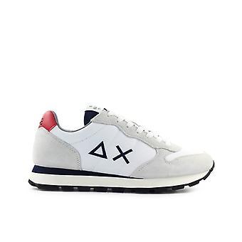 Sun68 Tom Solid Nylon White Navy Sneaker