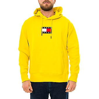 Moletom masculino tommy jeans tjm pequena bandeira hoodie dm0dm08726.zh3