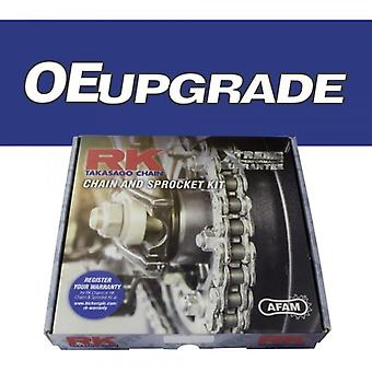 RK-oppgraderingskjede og tannhjulsett passer til Kawasaki GPz1100 E-1 E3 ZX1100 E1-E3 95-97