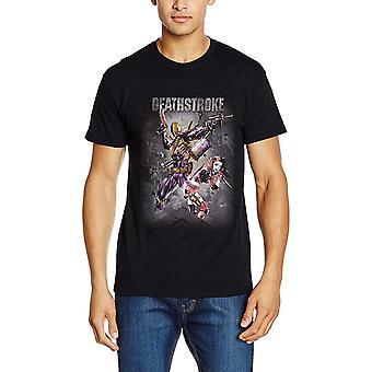 Justice League Unisex Adults Deathstroke Design T-shirt