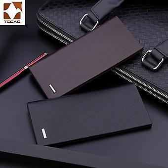 Men's plånböcker mikrofiber läder lång handväska carteira masculina hombre billeteras tunn porte 2019 manlig plånbok av läder äkta