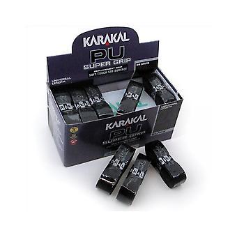 Karakal PU Super Grip BadMinton Tennis Squash Racket Grips x 24 - Nero