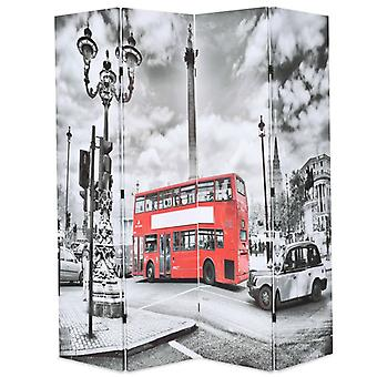 vidaXL غرفة مقسم قابل للطي 160 × 170 سم لندن حافلة بالأبيض والأسود