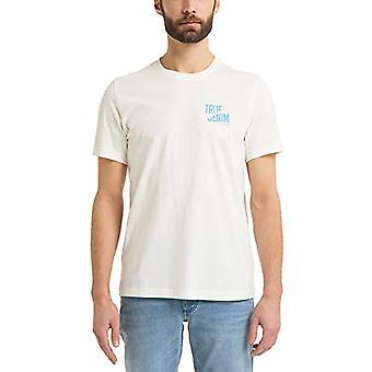 MUSTANG Alex C Camiseta con estampado, Blanco, XL Masculino (3)