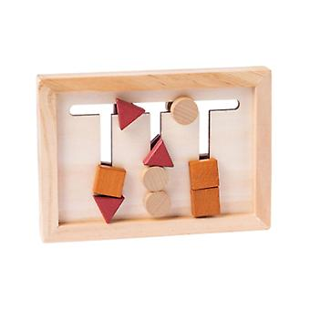 Children Wooden Games Puzzle Teaching Aids Montessori Early Educational Shape Color Matching Toy