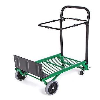 4 Wheel Multi-functional Forklift Trolley Utility Wagon Foldable Trolley Grocery Cart Portable Trolley For Home Garden Tool