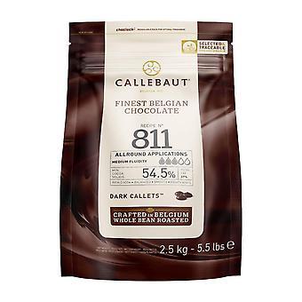 Receipe No. 811 - Kuvertüre Callets, Zartbitterschokolade, 54,5% Kakao, 1 x 2500 G