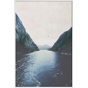 Stampa JUNIQE - Finding Inner Peace - Oceans, Seas & Lakes Poster in Blue