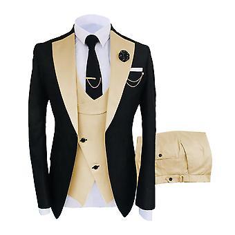 Formal Business Fashion 3 pieces Miesten puku (bleiseri+liivi+housut) - Setti 2