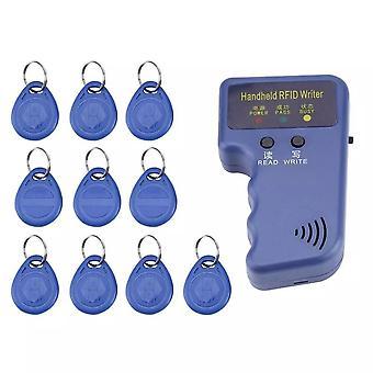 125khz Handheld Em4100 Tk4100 Rfid Duplicator Copier Writer 10pcs