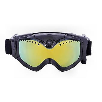 DZK 720P HD Ski Sonnenbrille Sportbrille Schwarz