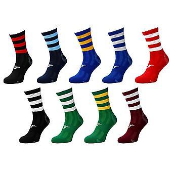 Präzision Pro Hooped GAA Mid Socken Junior Schwarz/Rot - UK Größe 3-6