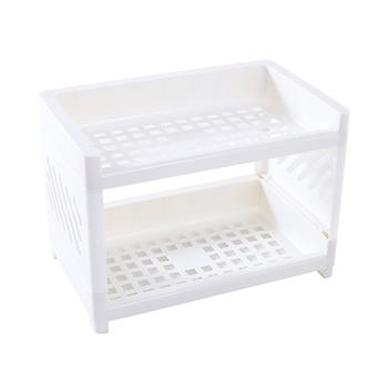 Double Fold Storage Shelf Simple Desktop Storage Shelf Pink Desk Accessories Organizer Office School Supplies