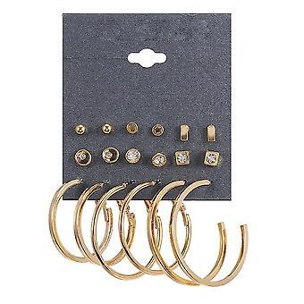 Earrings Geometric Alloy Zircon Ear Studs For Daily Use