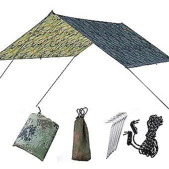 Awning Waterproof Tarp Tent 300*290cm Outdoor Camping Sun Shelter Canopy Sunshade Sun Shade Beach