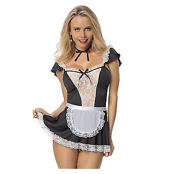 Women's Sexy Lingerie Set,lace Mesh Babydoll  With Choker