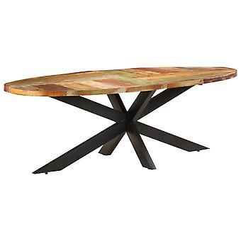 vidaXL table à manger 240x100x75 cm massif de bois usagé
