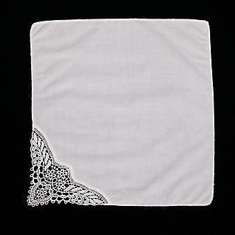 Premium Cotton Lace Handkerchiefs Blank Crochet Hankies