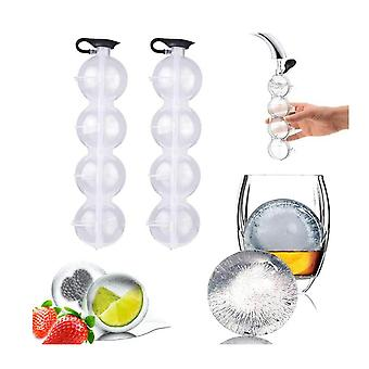 4 Hole Ice Cube Ball Maker,sphere Large Tray Whiskey Diy Mould